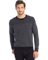Kenneth Cole Long Sleeve Striped Crewneck - Lyst