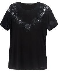 Ermanno Scervino Black Lace Tshirt - Lyst