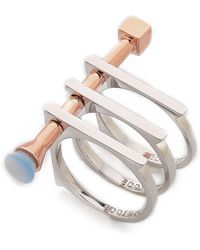 Eddie Borgo Cross Section Ring - Blue Agate - Lyst