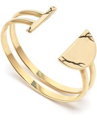 Pamela Love Chasm Cuff In Brass gold - Lyst
