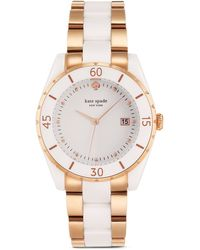 Kate Spade Two-Tone Seaport Watch, 38Mm - Lyst