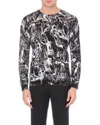 Sandro Smoke Oil-print Knitted Jumper - Lyst