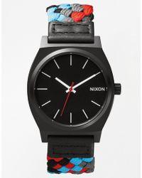 Nixon Time Teller Woven Strap Watch - Lyst