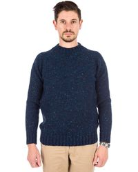 Barbour | Netherby Crew Neck Sweater In Blue | Lyst