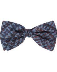 Barneys New York Houndstooth Bow Tie - Lyst