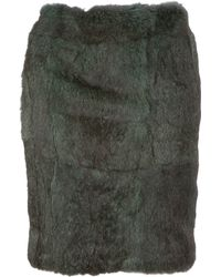 Sharon Wauchob - Fur Skirt - Lyst