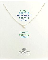 Dogeared Shoot For The Moon Glow Necklace - Lyst