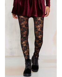 141584603 Nasty Gal · Look From London - Nice Stems Lace Tights - Lyst