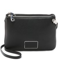 Marc By Marc Jacobs - Ligero Double Percy Cross Body Bag - Black - Lyst