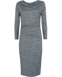 Nicole Farhi | Animal Print Jersey Dress | Lyst
