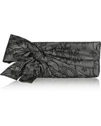 Valentino Lace-covered Vinyl Clutch - Lyst