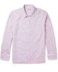 Sleepy Jones Henry Striped Cotton Pyjama Shirt - Lyst