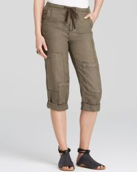 Free People Pants - Linen Cropped Utility - Lyst