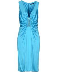 Versace Knee-Length Dress blue - Lyst
