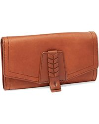Cole Haan Brennan Leather Small Zip Wallet - Lyst