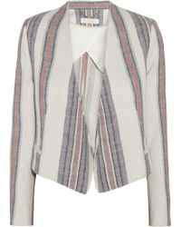 Chloé Striped Cotton and Linenblend Blazer - Lyst