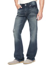 True Religion Hand Picked Bootcut Natural Stitch Mens Jean - Lyst