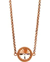 V By Valkeniers - Rose Gold Swarovski Necklace - Lyst