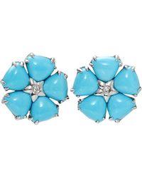 Dana Rebecca - Turquoise Flower Earrings - Lyst