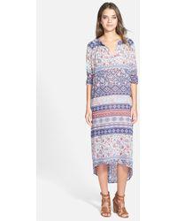 Velvet By Graham & Spencer Mosaic Print Maxi Dress - Lyst