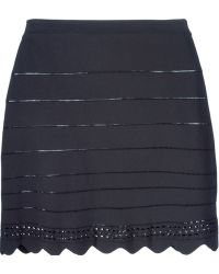 Chloé Scalloped Mini Skirt blue - Lyst