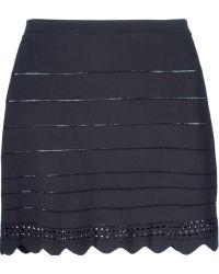Chloé Scalloped Mini Skirt blue - Lyst