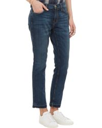 Current/Elliott Cropped Jeans - Lyst