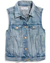 Madewell The Jean Vest in Clear Blue - Lyst