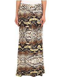 Karen Kane Diamond Back Print Skirt - Lyst