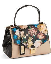 Badgley Mischka Valentina Floral Saffiano Bag - Lyst