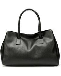 Furla Onyx Crosshatched Leather New Appaloosa Tote Bag - Lyst