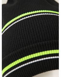 T By Alexander Wang - Striped Ribbed Beanie - Lyst