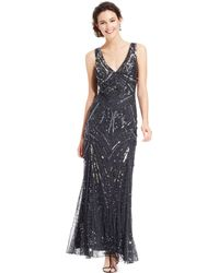 Patra Sleeveless Beaded Vneck Gown - Lyst