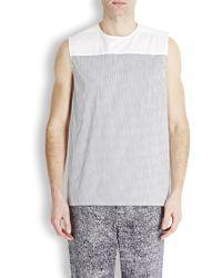 Kris Van Assche - Striped Cotton Poplin Vest - Lyst