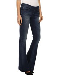 True Religion Charlize Mid Rise Flare In Inky Sea - Lyst