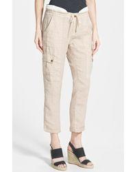 Kut From The Kloth 'James' Linen Crop Pants - Lyst