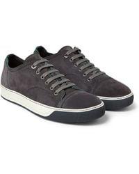 Lanvin Suede Sneakers - Lyst
