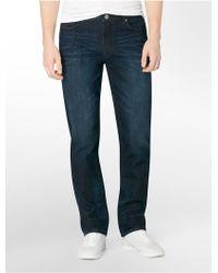 Calvin Klein Jeans Slim Straight Leg Osaka Blue Wash Jeans - Lyst