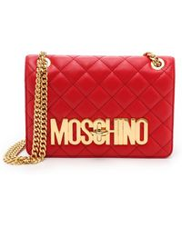 Moschino Shoulder Bag - Red - Lyst