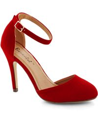 ModCloth Dinner and Dancing Heel in Rouge - Lyst