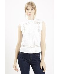 Topshop Victoriana Shell Top - Lyst