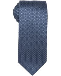 Gucci Blue Tree Pattern Silk Tie - Lyst