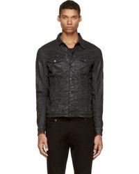 Diesel Black Coated Elshar_Ne Joggjeans Jacket - Lyst