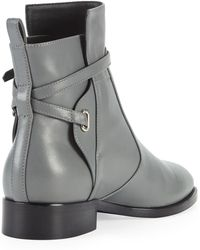 Balenciaga Anklestrap Flat Boot Gris Cendre - Lyst