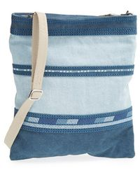 TOMS - Stripe Denim Crossbody Bag - Lyst