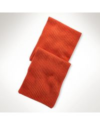 Polo Ralph Lauren Ribknit Cashmere Scarf - Lyst