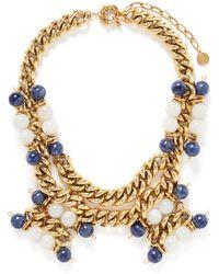 Ela Stone 'Andrea' Sodalite Jade Chain Necklace multicolor - Lyst