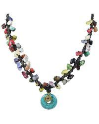 Aeravida - Blue Turquoise Round Harmony Mix Stone Necklace - Lyst