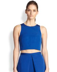 Tibi Cotton Silk Cropped Top - Lyst