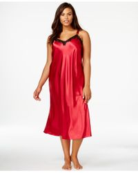 Morgan Taylor - Plus Size Satin Nightgown - Lyst